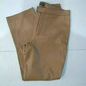 Garson by Rem Garson Tan Leather Pants Sz 12P